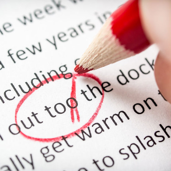 Editing proofreading